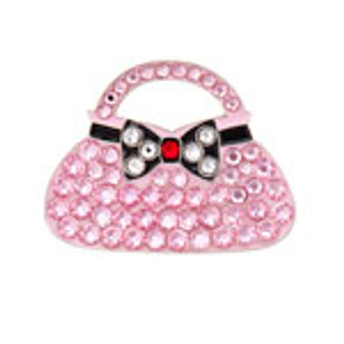 Bonjoc Pink Clutch Swarovski Crystal Ball Marker
