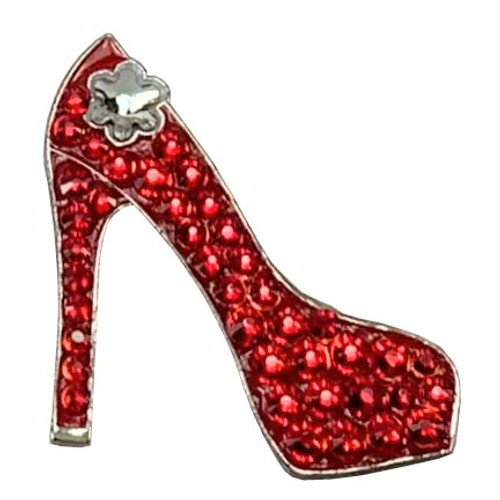 Bonjoc Red Stiletto Swarovski Crystal Ball Marker