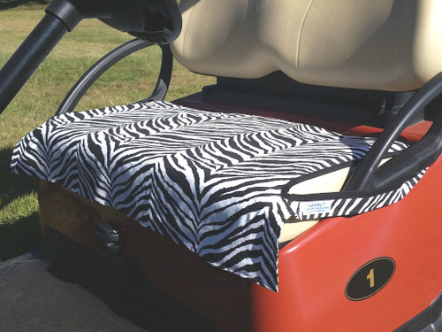 Zebra Cotton Cart Seat Cover