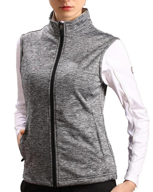 Glen Echo Grey Lightweight Ladies Stretch Tech Meringue Vest