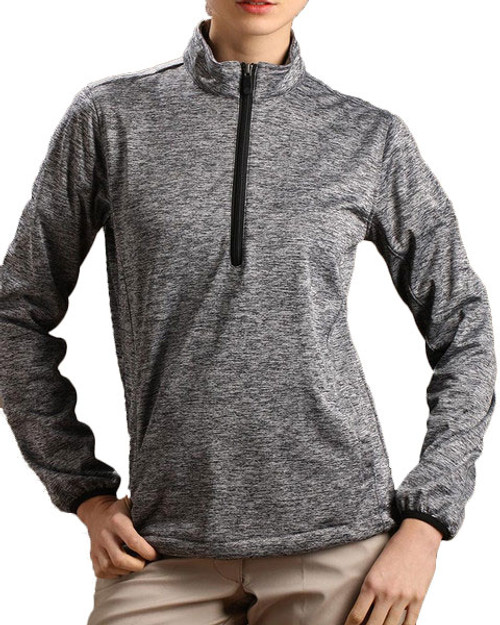 Glen Echo Grey Ladies Stretch Tech Meringue Pullover