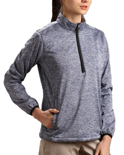 Glen Echo Blue Ladies Stretch Tech Meringue Pullover