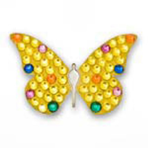 Bonjoc Yellow Butterfly Swarovski Crystal Ball Marker