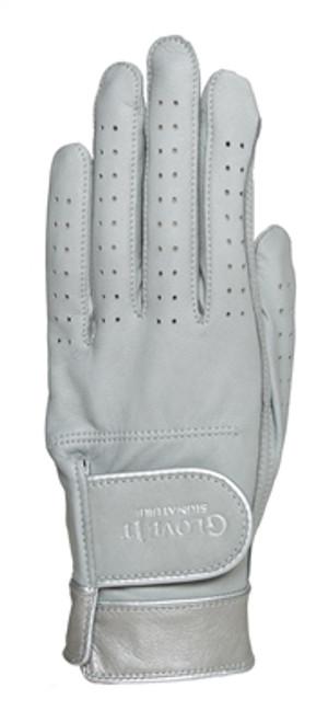 Glove It Signature Silver Suede Ladies Golf Glove - Size: Medium