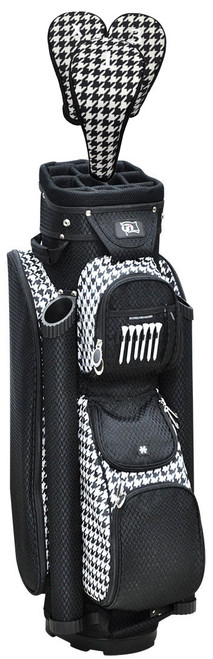 RJ Sports Boutique Houndstooth Ladies Golf Bag + Club Cover Set