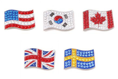 Bonjoc Flag Ball Markers - 20 Countries Available