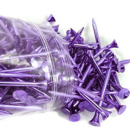 Purple Metallic Golf Tees (Pack of 12)