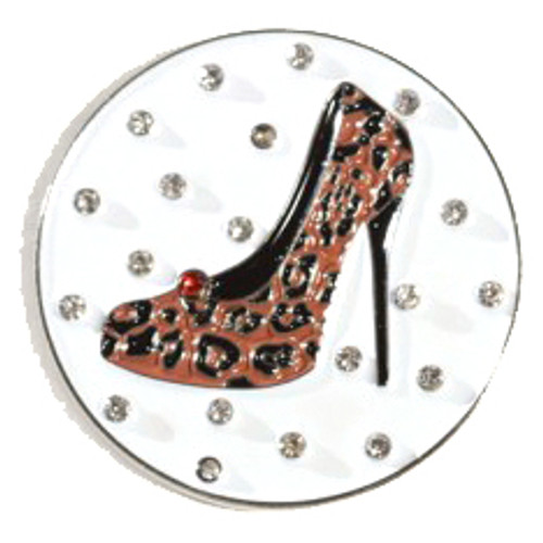 Abigale Lynn Cheetah High Heel Crystal Ball Marker