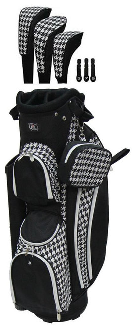 RJ Sports LB-960 Houndstooth Ladies Golf Bag + Club Cover Set