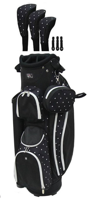 RJ Sports LB-960 Polka Dot Ladies Golf Bag + Club Cover Set