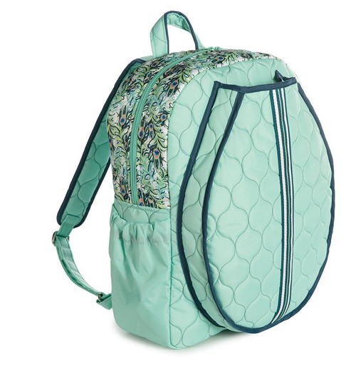 cinda b Purely Peacock Tennis Backpack - Haul and store all of your tennis gear in style, on and off the court, with this large Tennis backpack.