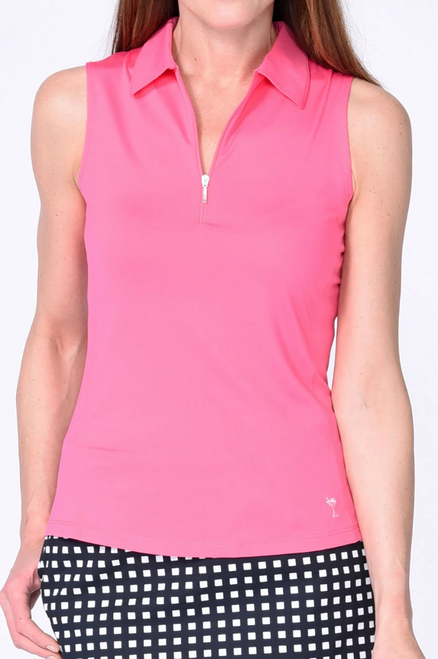 Golftini Hot Pink Sleeveless Tech Polo (NEW!)
