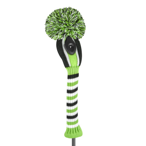 Just4Golf Green & Black Vertical Stripe Hybrid Cover