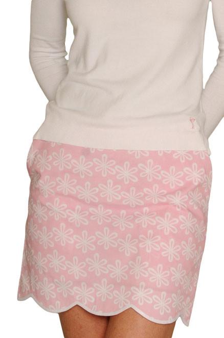 Golftini Flower Power Pink Golf Skort