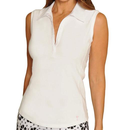 Golftini Classic White Sleeveless Polo