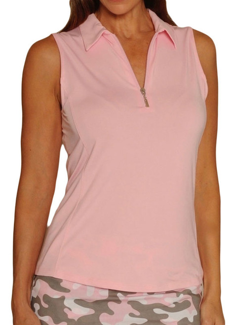 Golftini Light Pink Sleeveless Tech Polo (NEW!)