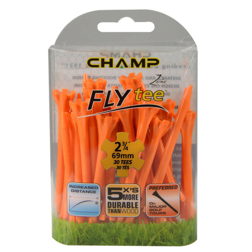 FLYTee Orange Golf Tees