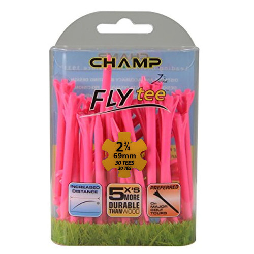 FLYTee Pink Golf Tees