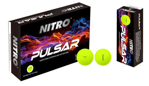 Nitro Pulsar Matte Yellow Golf Balls