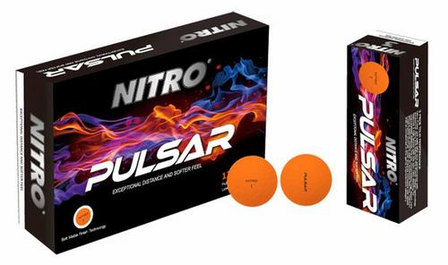 Nitro Pulsar Matte Orange Golf Balls