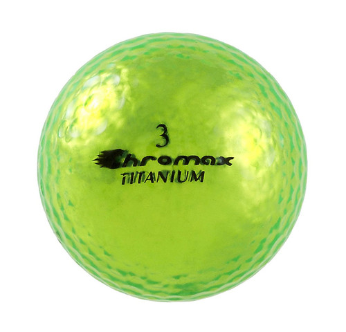 Chromax Metallic Green Golf Balls - Pack of 6 Golf Balls
