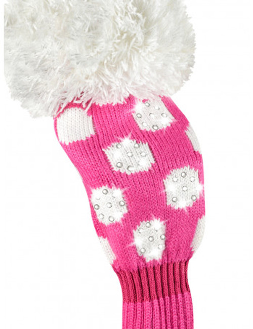 Just4Golf Sparkle Deep Pink Dot Fairway Cover