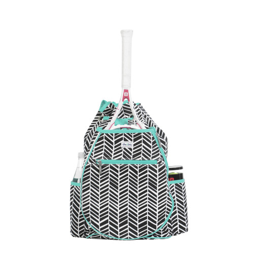 Ame & Lulu Kingsley Tennis Backpack - Black Shutters