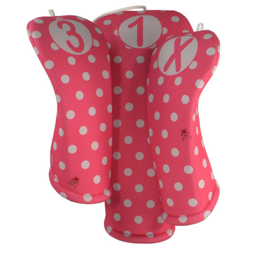 Beejo Hot Pink Polka Dot Club Cover Set