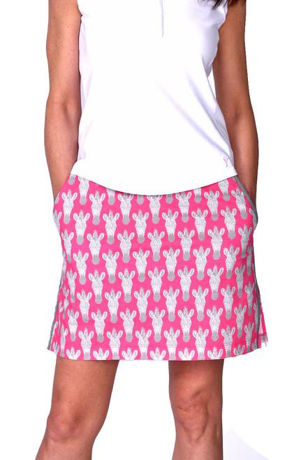 Golftini Animal Print Zebra Stretch Cotton Golf Skort
