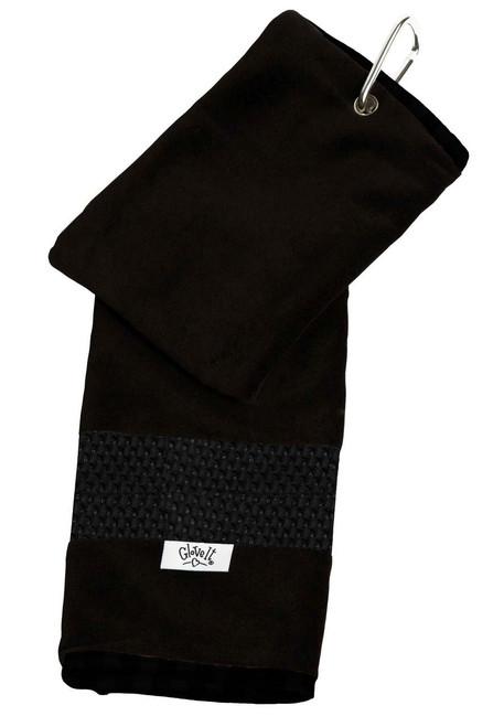 Glove It Black Mesh Ladies Golf Towel