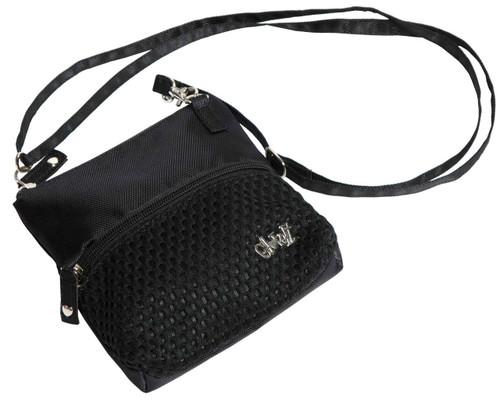 Glove It Black Mesh Zip Golf Accessory Bag