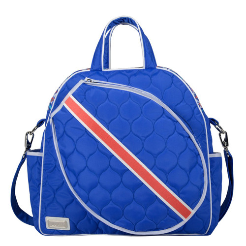 cinda b Royal Bonita Women's Tennis Tote Bag. Haul and store all of your tennis gear in style, on and off the court, with this ladies tennis tote.