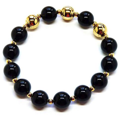 Sporty Chic Black Onyx Tennis Bracelet