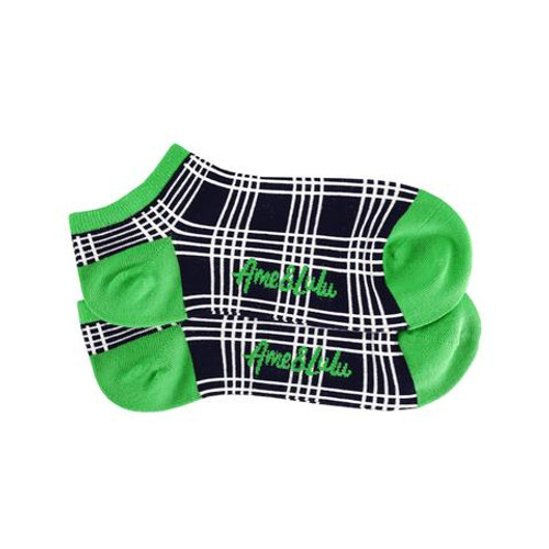 Ame & Lulu Parker Plaid Athletic Socks