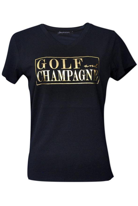 Bump & Run Golf and Champagne Tee - Size: XL