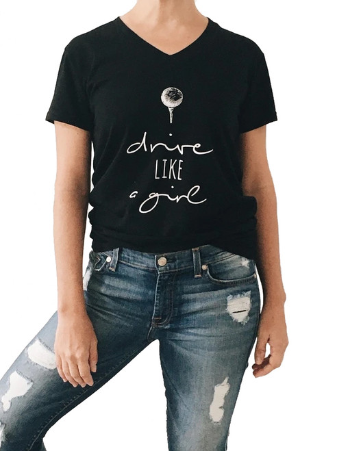 Bump & Run Drive Like a Girl Black Tee