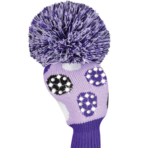 Just4Golf Sparkle Purple Polka Dot Driver Cover