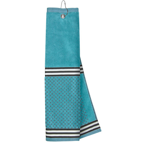 Just4Golf Turquoise Ribbon Golf Towel