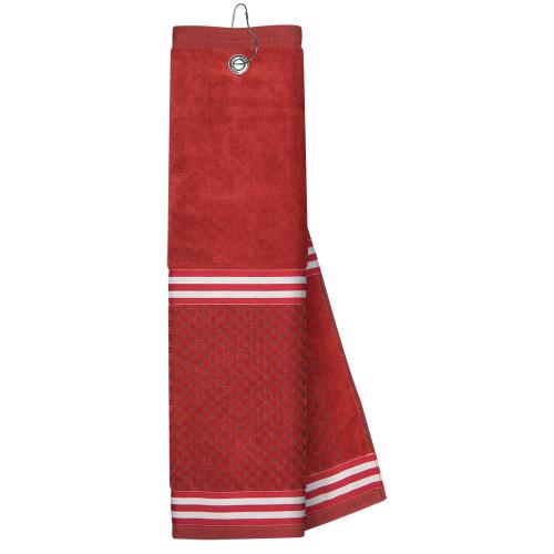 Just4Golf Red Ribbon Golf Towel