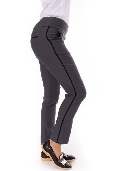 Golftini Trophy Pull-On Stretch Twill Grey Golf Pants