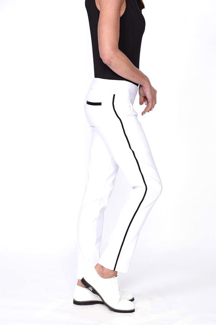 Golftini Trophy Pull-On Stretch Twill White Golf Pants