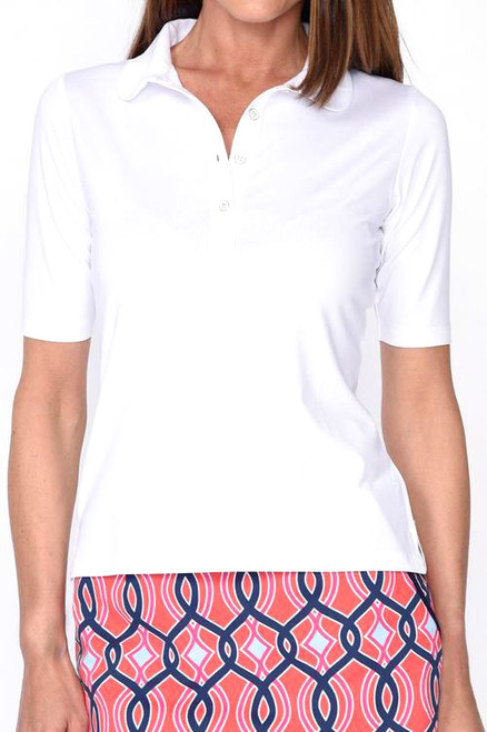 Golftini Elbow White Tech Top