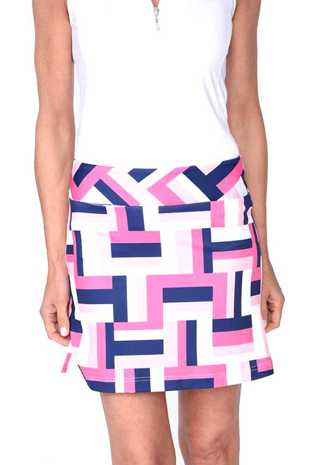 Golftini All Square Pull-On Tech Golf Skort