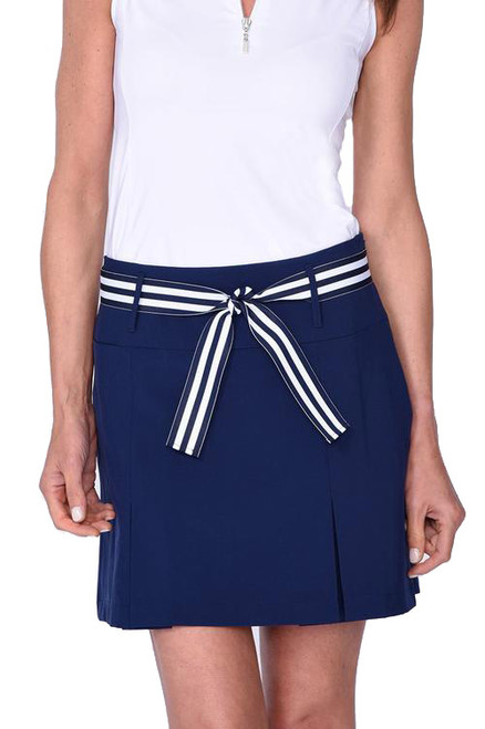 Golftini Navy Performance Pleat Golf Skort