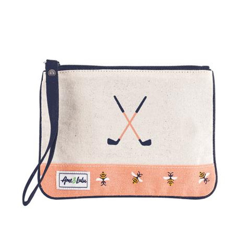 A&L Bees Knees Golf Lovers Wristlet