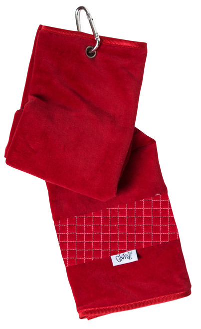 Glove It Lady in Red Ladies Golf Towel