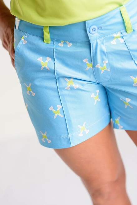 "Birdies & Bows Twisted Tees 5"" Golf Shorts"