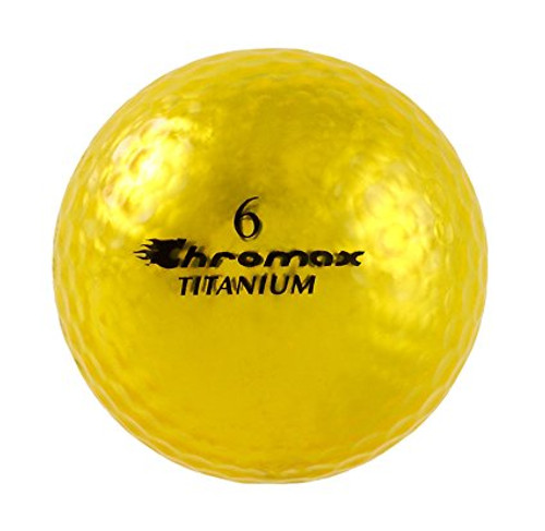 Chromax Metallic Gold Golf Balls - Pack of 6 Golf Balls