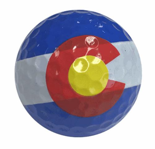 Colorado Flag Golf Balls