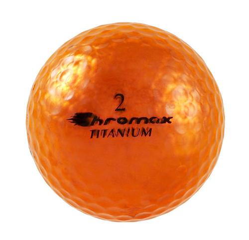 Chromax Metallic Orange Golf Balls - Pack of 6 Golf Balls